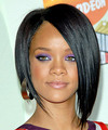 Rihanna - Medium Straight Hairstyle